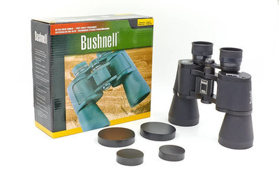 Бинокль Bushnell 2702 с чехлом кратность 20х, диаметр объектива 50мм