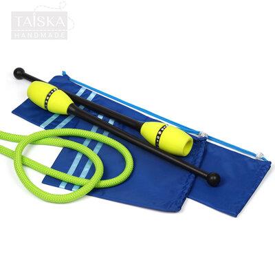 Набор чехлов для гимнастических булав и скакалки Синий 2 полоски