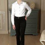 Брюки Милана замшевые черные и синие с накладными карманами