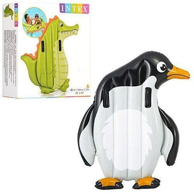 Плотик С Ручками 58151 2 Вида Ккрокодил и Пингвин