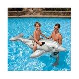 INTEX 58539 201X76 См. Детский Надувной Плотик Дельфин