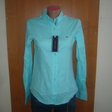 Рубашка-Блузка женская классическая Турция длинный рукав однотонная Tommy Hilfiger s m l xl