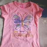 Праздничная футболка для девочки 1-2 годика