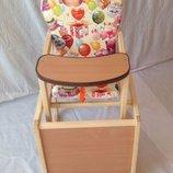 Детский стульчик-столик для кормления для девочек. Расцветки