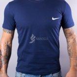 Футболка мужская хлопковая Nike темно-синяя