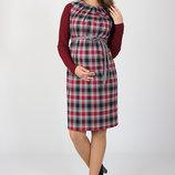 Сарафан платье для беременных клетка тартан Devos