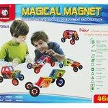 Конструктор магнитный 46 деталей 1552855 7046A аналог Magformers магформерс квадраты треугольники