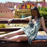 Платье туника зебра