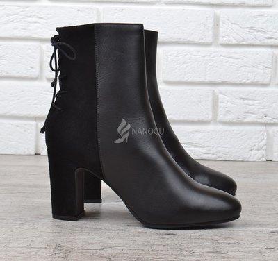 Ботильоны кожаные River Island оригинал женские на каблуке черные