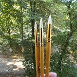 Кисти кисточки кисть щетина натуральная для рисования творчества пензлик для малювання акрил масло