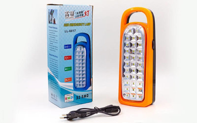 Фонарь аккумуляторный светодиодный 6817 32 LED, размер 25х9,5см