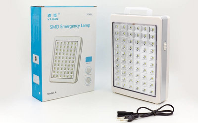 Фонарь аккумуляторный аварийный светодиодный переносной 8686 60 LED, размер 23,8х17,5см