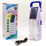 Фонарь аккумуляторный светодиодный переносной SW208 2 лампы, размер 19,5х7см USB/сеть/солнечная ба