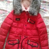 Парка зимняя женская,размер М пальто куртка тёплая