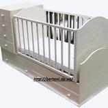 Детская кровать-трансформер с мишкой
