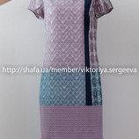 Шикарное прямое платье миди длины в принт