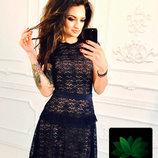 Платье дорогой гипюр