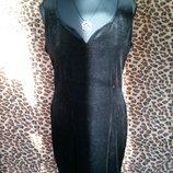 Маленькое черное платье, велюр
