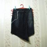 Юбка р.42-44, MR FERRO COLLECTION EU-38 джинсовая стрейчевая женская девочка распродажа, зима лето