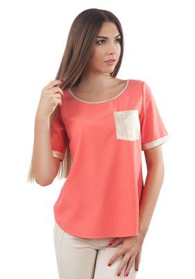 Фирменная блуза /футболка с золотистыми вставками. Есть большие размеры до 2XL.