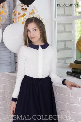 Красивые школьные блузы 2 модели