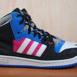 Высокие кожаные кроссовки, кеды Adidas Decade Hi. 37 - 38 размер