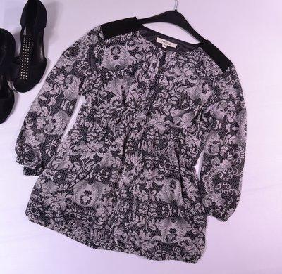 Узорчатая шифоновая блуза Nicole