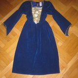 Синее карнавальное платье Джульеты, королевы, Золушки на 7-9лет, 122-128см Smiffys