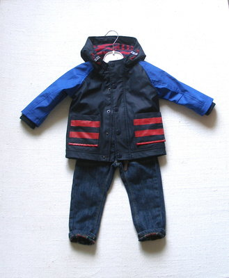 Прорезиненная куртка Next для мальчика 9-12 мес