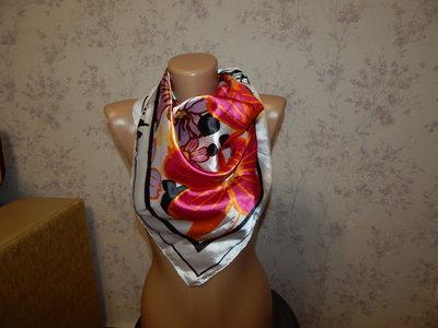 платок атласный стильный модный