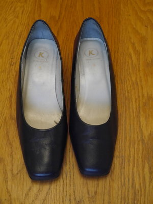 Туфлі шкіряні сині розмір 5 на 38 стелька 25,3 см К