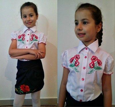 Блуза-Вышиванка для девочки р.116-134