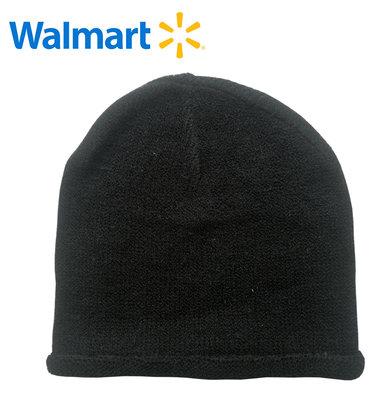 Шапки демисезонные на 7-13 лет Walmart Америка черные однотонные