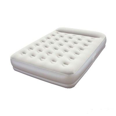 Надувная флокированная кровать матрас Bestway 67459, серая