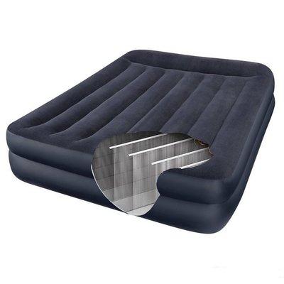 Двуспальная велюровая надувная кровать Intex 64124