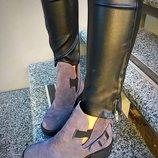 Женские ботинки Diesel натуральная кожа и замша