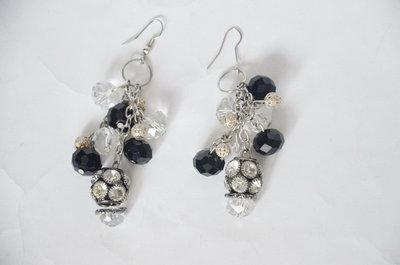 красивые серьги с камнями под серебро