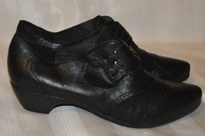 Ботильони туфлі шкіра Tamaris розмір 41 42, туфли кожа
