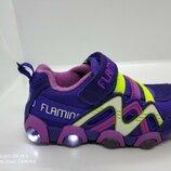 Светящиеся кроссовки для девочки Flamingo