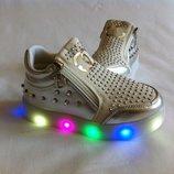 ботиночки серебро 21-30