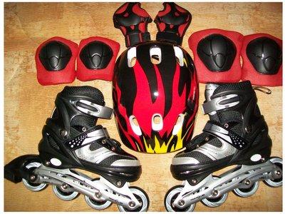 Детские раздвижные ролики с шлемом и защитой, р. 31-34, 35-38, 39-42