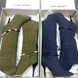 Летние сапоги ISABEL MARANT оригинал , текстиль, лен , новые.