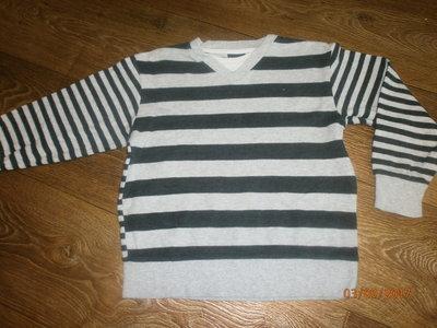 Полосатый свитерок обманка Некст на 6 лет