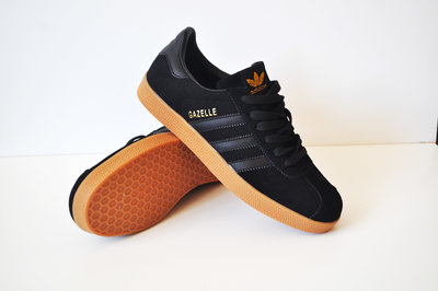 Кроссовки мужские Adidas Gazelle black, замша