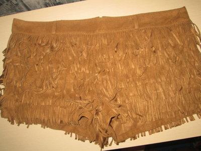 Крутые шорты с бахромой под замш