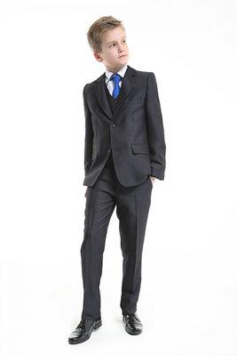 Польский черный школьный костюм-тройка Jankes для мальчика