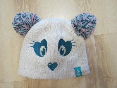 зимняя шапка animals панда 3-4года