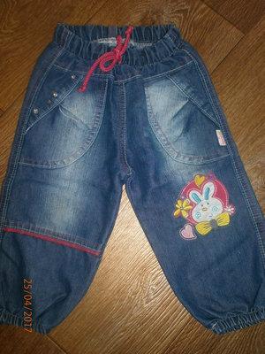 Легкие джинсики - шароварики Кидс клаб на 12 мес