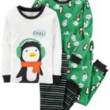 Комплект детских пижам для мальчика Carters пингвин