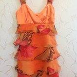 Сарафан-Платье с воланами, размер S.